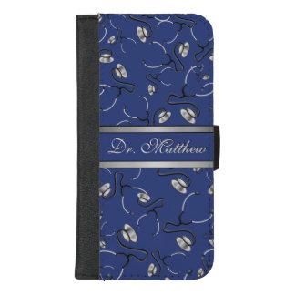 Capa Carteira Para iPhone 8/7 Plus Médico, enfermeira, medique estetoscópios