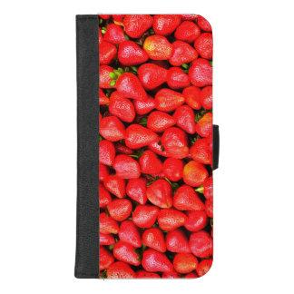 Capa Carteira Para iPhone 8/7 Plus Muitas morangos!