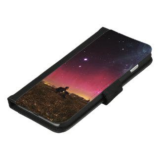 Capa Carteira Para iPhone 8/7 Plus Nunca perca sua maravilha Fractalscape