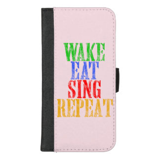 Capa Carteira Para iPhone 8/7 Plus O acordar come canta a repetição
