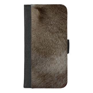 Capa Carteira Para iPhone 8/7 Plus O olhar da pele luxuoso do gato Siamese do ponto