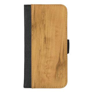 Capa Carteira Para iPhone 8/7 Plus O olhar da textura de madeira da grão do bordo