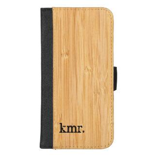 Capa Carteira Para iPhone 8/7 Plus Olhar de bambu da textura da natureza com