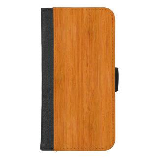 Capa Carteira Para iPhone 8/7 Plus Olhar de madeira de bambu ambarino da grão