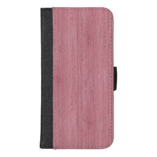 Capa Carteira Para iPhone 8/7 Plus Olhar de madeira de bambu roxo malva da grão