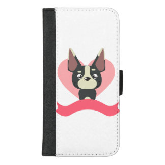Capa Carteira Para iPhone 8/7 Plus Pug Love