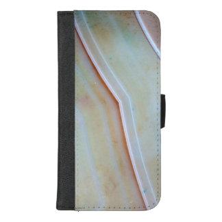 Capa Carteira Para iPhone 8/7 Plus Série de pedra preciosa - ágata lustrada