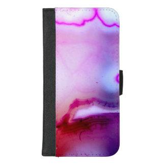 Capa Carteira Para iPhone 8/7 Plus Série de pedra preciosa - ágata roxa com quartzo