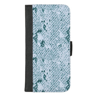 Capa Carteira Para iPhone 8/7 Plus Snakeskin azul e branco fabuloso