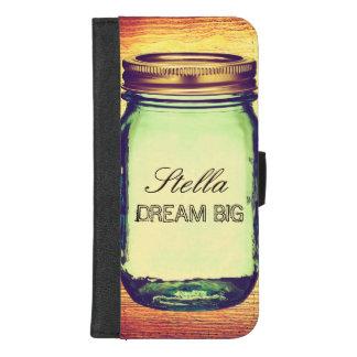 Capa Carteira Para iPhone 8/7 Plus Sonho inspirado das citações grande no frasco de
