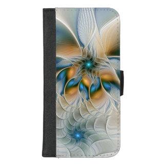 Capa Carteira Para iPhone 8/7 Plus Subindo, abstraia a arte do Fractal da fantasia
