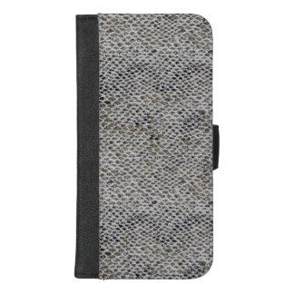 Capa Carteira Para iPhone 8/7 Plus Teste padrão do preto e da pele de cobra de Brown