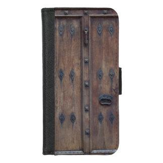 Capa Carteira Para iPhone 8/7 Porta de madeira espanhola velha com parafusos
