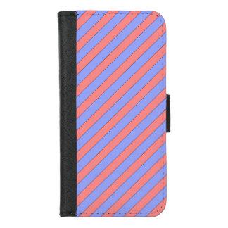 Capa Carteira Para iPhone 8/7 Rosa e roxo diagonais da listra