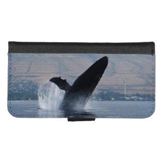 Capa Carteira Para iPhone 8/7 ruptura da baleia de humpback