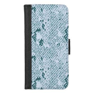 Capa Carteira Para iPhone 8/7 Snakeskin azul e branco fabuloso