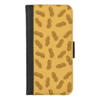 Capa Carteira Para iPhone 8/7 Teste padrão do amendoim