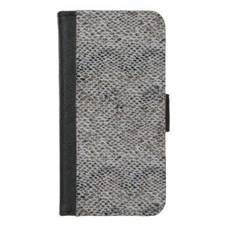 Capa Carteira Para iPhone 8/7 Teste padrão do preto e da pele de cobra de Brown