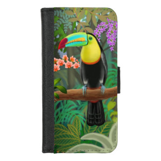 Capa Carteira Para iPhone 8/7 Toucan tropical no iPhone da selva 8/7 de caixa da