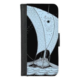 Capa Carteira Para iPhone 8/7 Viking Longship na noite