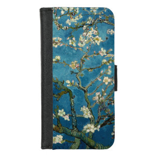 Capa Carteira Para iPhone 8/7 Vintage de florescência Van Gogh floral da árvore