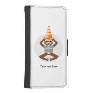 Capa Carteira Para iPhone SE/5/5s A preguiça seja um cone da estrada do unicórnio