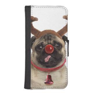 Capa Carteira Para iPhone SE/5/5s Antlers do Pug - pug do Natal - Feliz Natal