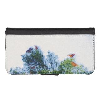 Capa Carteira Para iPhone SE/5/5s Caixa da carteira de IPhone das borboletas de