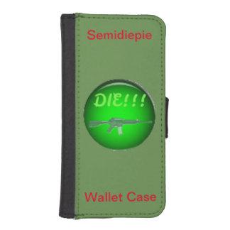 Capa Carteira Para iPhone SE/5/5s Caixa da carteira de Semidiepie para o iPhone 5/5s