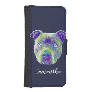 Capa Carteira Para iPhone SE/5/5s Caixa personalizada cão da carteira de Pitbull