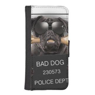 Capa Carteira Para iPhone SE/5/5s Cão do Mugshot, pug engraçado, pug