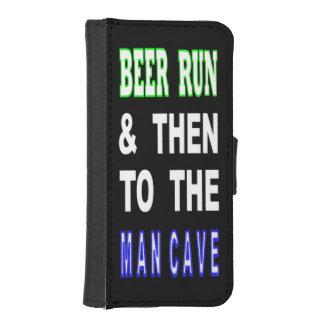 Capa Carteira Para iPhone SE/5/5s Cerveja funcionada & então à caverna do homem