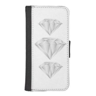 Capa Carteira Para iPhone SE/5/5s Diamante branco para meu querido