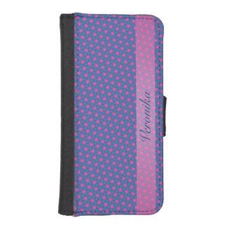 Capa Carteira Para iPhone SE/5/5s Fractal cor-de-rosa e preto