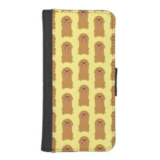 Capa Carteira Para iPhone SE/5/5s Ilustração feliz do golden retriever