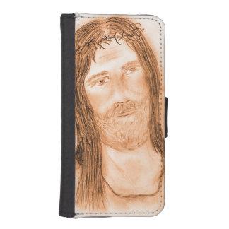 Capa Carteira Para iPhone SE/5/5s Jesus na luz