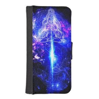 Capa Carteira Para iPhone SE/5/5s Koi iridescente cósmico