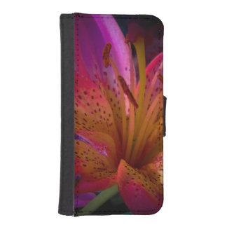 Capa Carteira Para iPhone SE/5/5s Lírio cor-de-rosa - confusão bonita