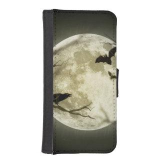 Capa Carteira Para iPhone SE/5/5s Lua do Dia das Bruxas - ilustração da Lua cheia