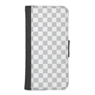 Capa Carteira Para iPhone SE/5/5s Luz - tabuleiro de damas cinzento