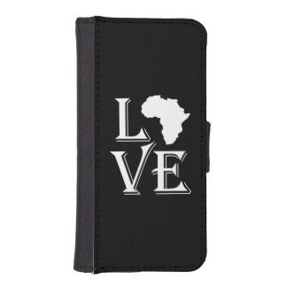 Capa Carteira Para iPhone SE/5/5s Mapa do continente de África do amor