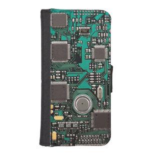 Capa Carteira Para iPhone SE/5/5s O conselho de circuito