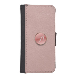 Capa Carteira Para iPhone SE/5/5s O falso do rosa cor-de-rosa cobre a carteira do