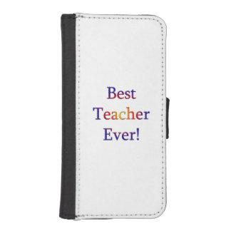 Capa Carteira Para iPhone SE/5/5s O melhor professor nunca