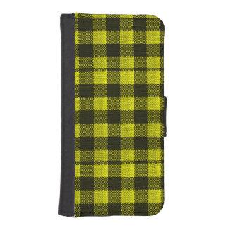 Capa Carteira Para iPhone SE/5/5s Olhar Checkered de serapilheira do teste padrão do