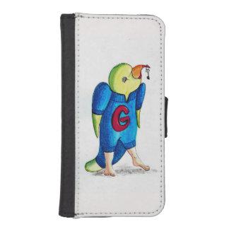 Capa Carteira Para iPhone SE/5/5s Papagaio do caso de Iphone 5