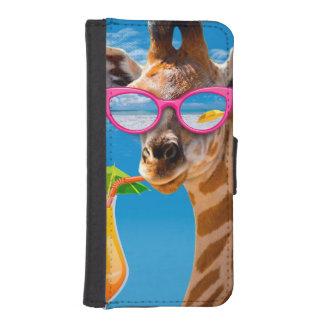 Capa Carteira Para iPhone SE/5/5s Praia do girafa - girafa engraçado