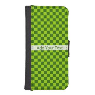 Capa Carteira Para iPhone SE/5/5s Tabuleiro de damas clássico da combinação verde