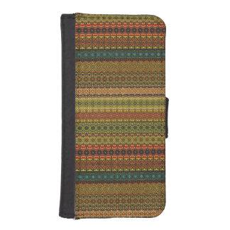 Capa Carteira Para iPhone SE/5/5s Teste padrão asteca tribal do vintage