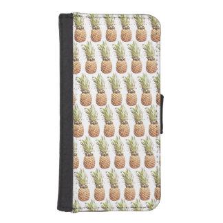 Capa Carteira Para iPhone SE/5/5s teste padrão do abacaxi da caixa da carteira do